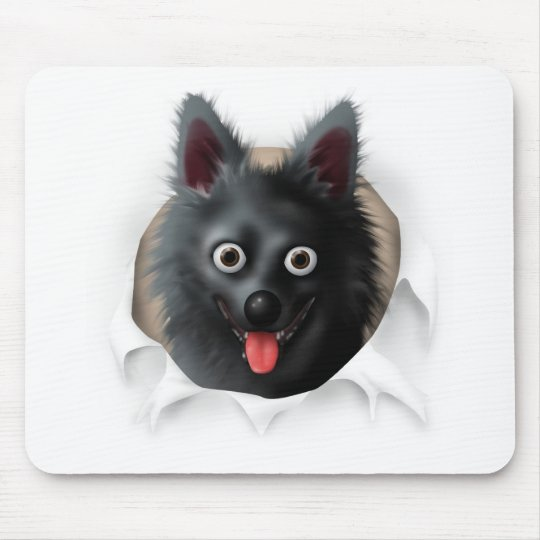 Schipperke Busting Out Mouse Pad