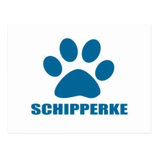 SCHIPPERKE DOG DESIGNS POSTCARD