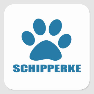 SCHIPPERKE DOG DESIGNS SQUARE STICKER