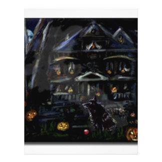 Schipperke Halloween Haunted house Personalized Flyer