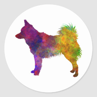 Schipperke in watercolor classic round sticker