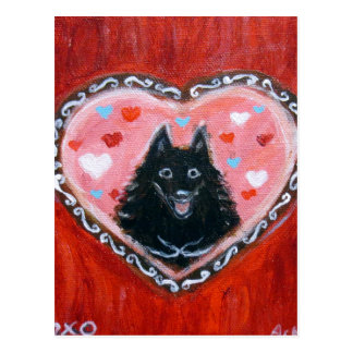 Schipperke Love Heart Postcard