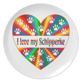 Schipperke Love Plate