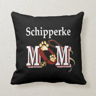 Schipperke Mom Gifts Throw Pillow