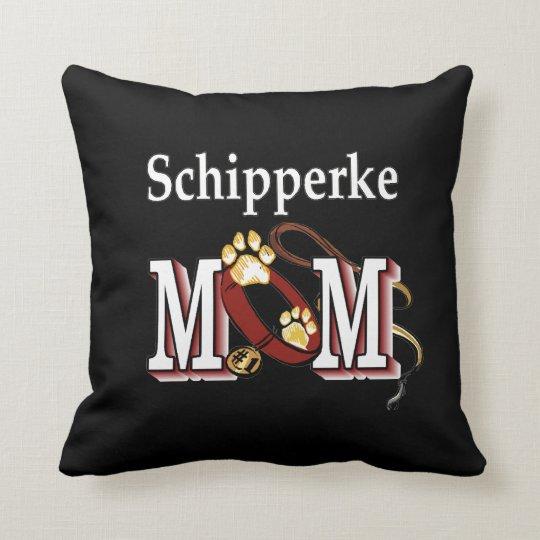 Schipperke Mom Gifts Throw Pillow