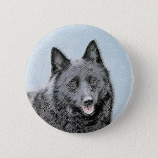Schipperke Painting - Cute Original Dog Art 2 Inch Round Button