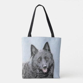 Schipperke Painting - Cute Original Dog Art Tote Bag