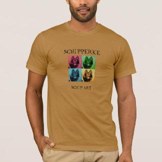 Schipperke Pop Art T Shirt