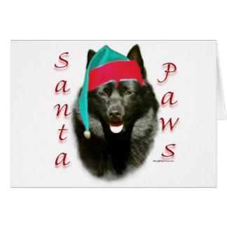 Schipperke Santa Paws Greeting Card