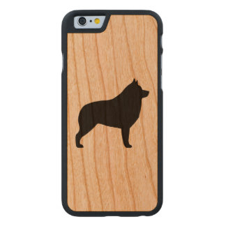 Schipperke Silhouette Carved Cherry iPhone 6 Case