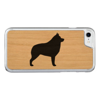 Schipperke Silhouette Carved iPhone 8/7 Case