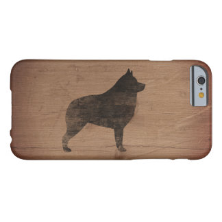 Schipperke Silhouette Rustic Barely There iPhone 6 Case
