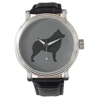Schipperke Silhouette Watch