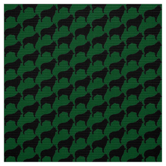 Schips On Green Fabric