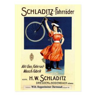 Schladitz-Fahrräder Vintage Bicycle Poster Postcard