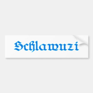 schlawuzi rascal Bavaria Bavarian Bavarian Bavaria Bumper Sticker