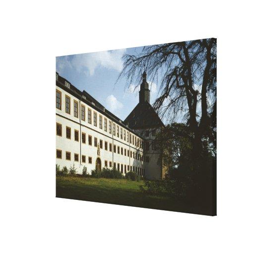Schloss Friedenstein, Gotha, built in 1643-54 Canvas Print