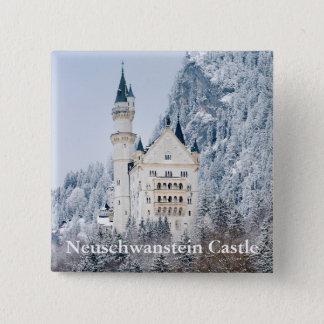 Schloss Neuschwanstein 2 Inch Square Button