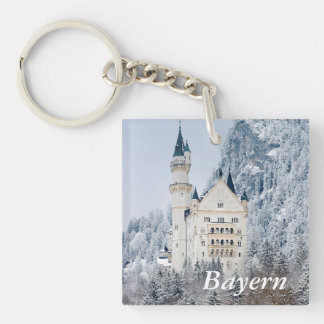Schloss Neuschwanstein Double-Sided Square Acrylic Keychain