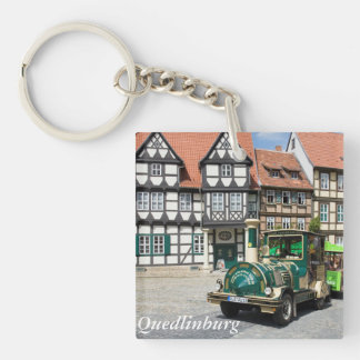 Schlossberg in Quedlinburg Single-Sided Square Acrylic Keychain