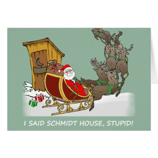 Schmidt House Cartoon Christmas Card
