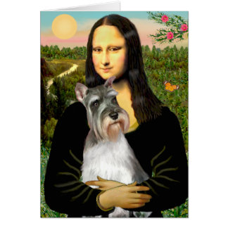 Schnauzer 11N - Mona Lisa Card