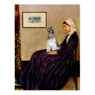 Schnauzer 11N - Whistlers Mother Postcard