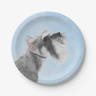Schnauzer 3 paper plate