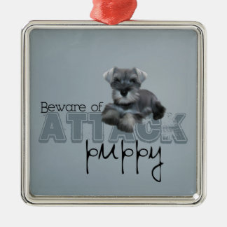 Schnauzer Attack Ornament