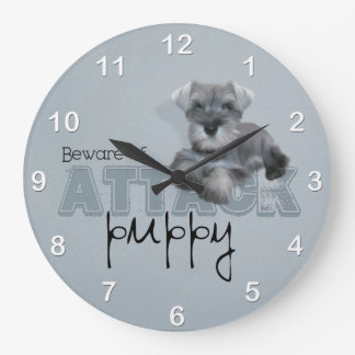 Schnauzer Attack Wall Clock