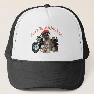 Schnauzer Biker Don't Touch My Beer Trucker Hat