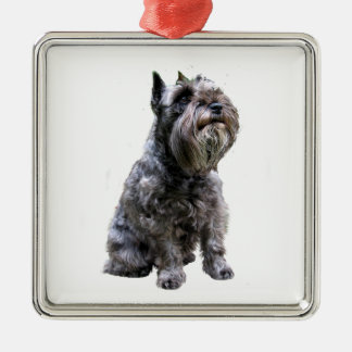 Schnauzer  - Black #1 Metal Ornament