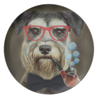 Schnauzer Blowing Bubbles Decorative Plate