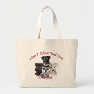 Schnauzer Can't Have Just One Large Tote Bag
