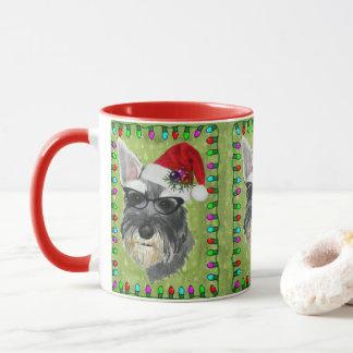 Schnauzer Christmas Coffee Mug