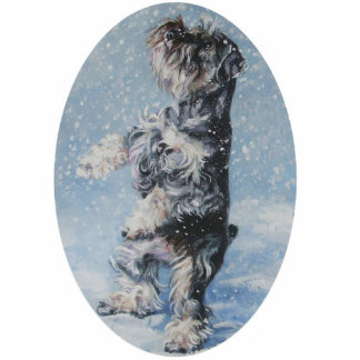 schnauzer christmas ornament photo sculpture ornament