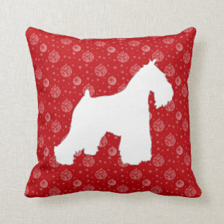 Schnauzer Christmas Pillow