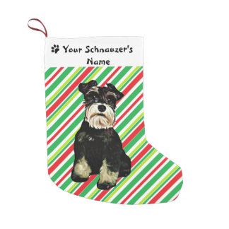 Schnauzer Christmas Stocking Small Christmas Stocking