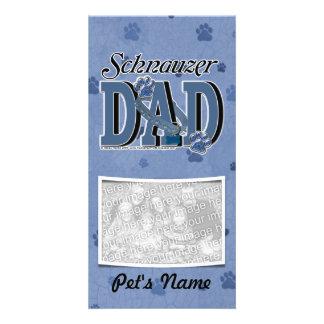 Schnauzer DAD Photo Greeting Card