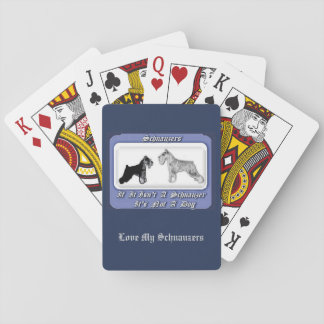 Schnauzer Deck of Playing Cards