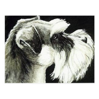 """Schnauzer"" Dog Art Postcard"