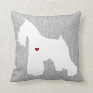 Schnauzer Dog Lover Heart Pet Throw Pillow
