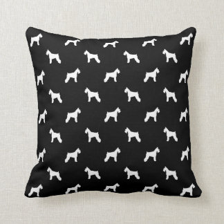 Schnauzer dog pillow - pattern silhouette