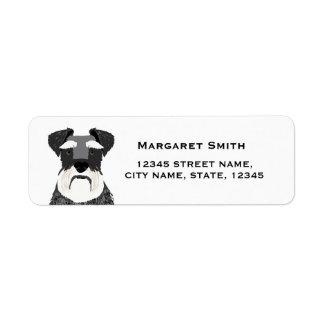 schnauzer dog return address label