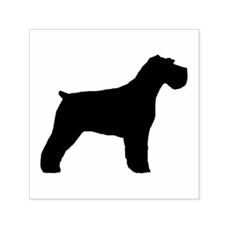 Schnauzer Dog Silhouette (Floppy Ears) Self-inking Stamp