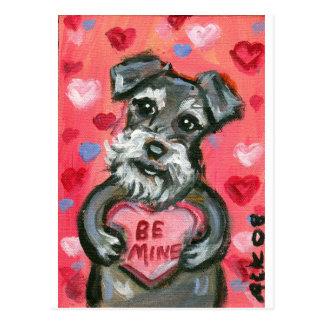 Schnauzer dog Valentine Postcard