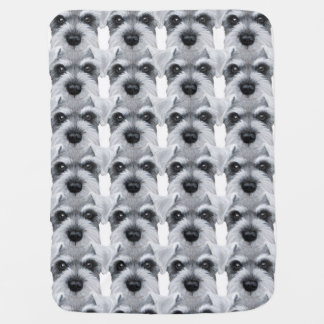 Schnauzer everywhere, Original design by miart Baby Blanket