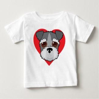 Schnauzer Face Baby T-Shirt