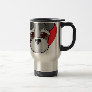 Schnauzer Face Travel Mug