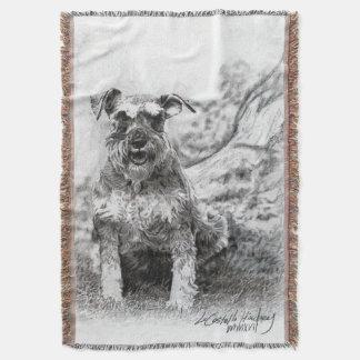 Schnauzer Fine Art Throw Blanket ~CHStudios.net